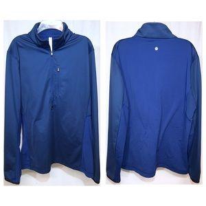 lululemon MEN'S Blue 1/2 Zip Pullover XL